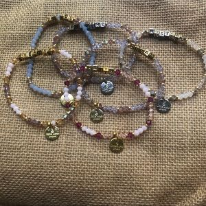 Jewelry - Little Word Project set of 6 beaded bracelets